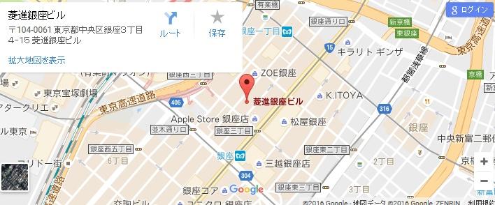 エタラビ 銀座店の地図