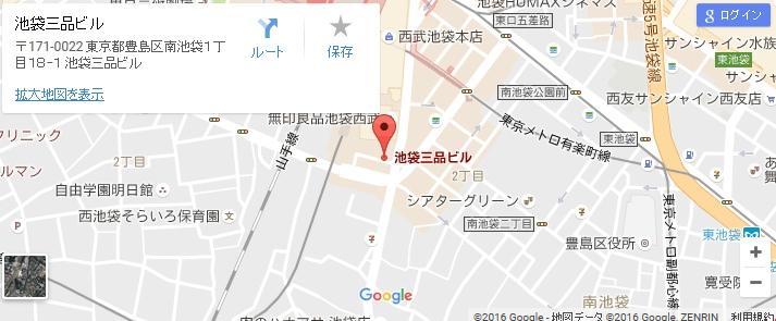 エタラビ グラン池袋東口店の地図