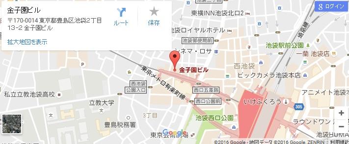 エタラビ 池袋西口店の地図