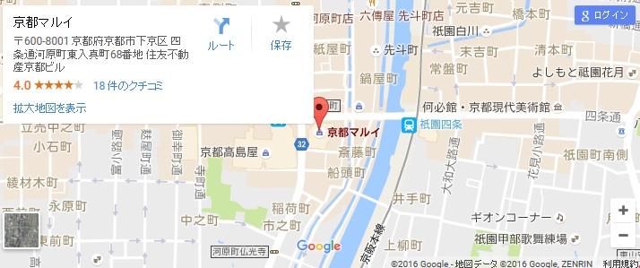 エタラビ 京都マルイ店の地図