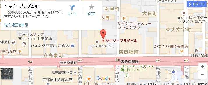 エタラビ 京都四条通店の地図