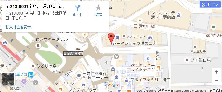 エタラビ溝の口店の地図