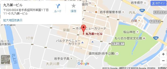 エタラビ 盛岡店の地図