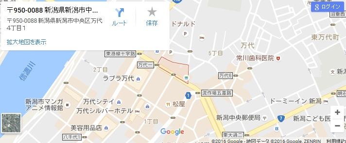 エタラビ 新潟万代店の地図