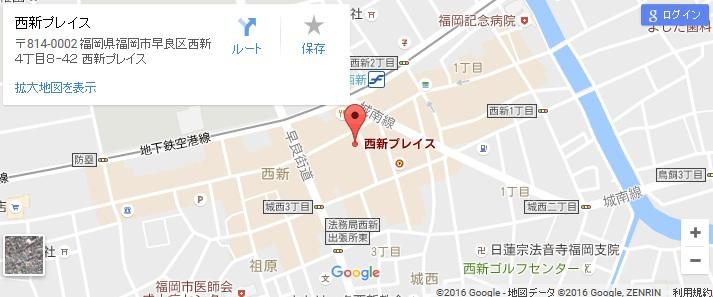 エタラビ 西新PLACE店の地図
