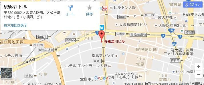 エタラビ 西梅田店の地図