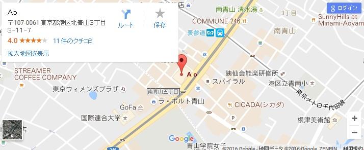 エタラビ グラン表参道Ao店の地図