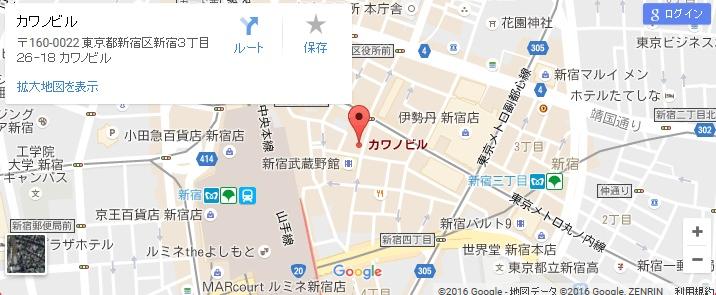 エタラビ グラン新宿東口店の地図