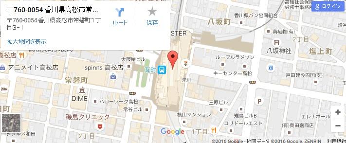 エタラビ 高松瓦町FLAG店の地図