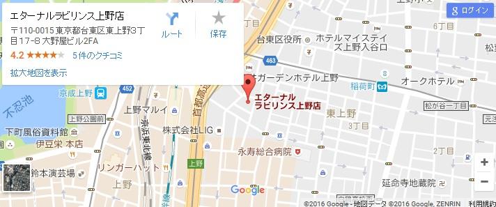 エタラビ 上野店の地図