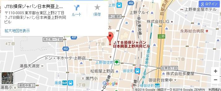 エタラビ グラン上野広小路店の地図