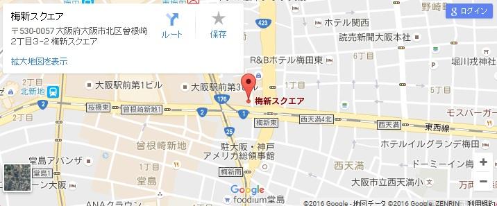 エタラビ グラン梅田店の地図