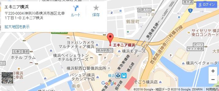 エタラビ 横浜エキニア店の地図