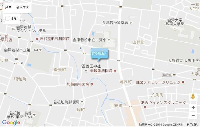 ミュゼ 会津若松店の地図
