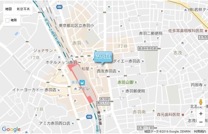 ミュゼ 赤羽店の地図