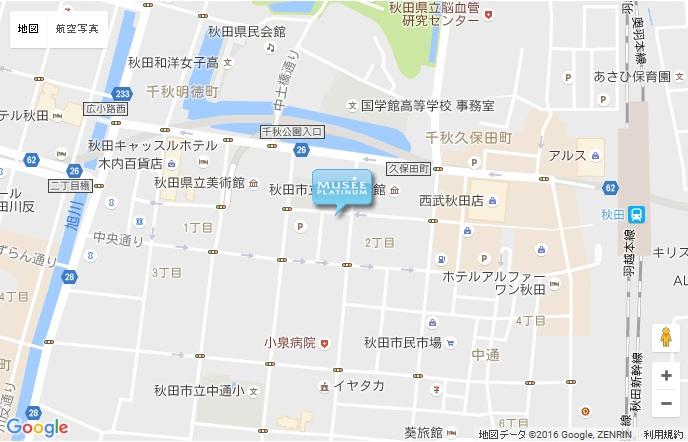 ミュゼ 秋田店の地図