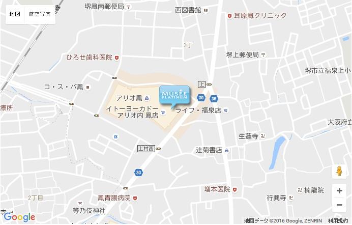 ミュゼ あべのキューズモール店の地図