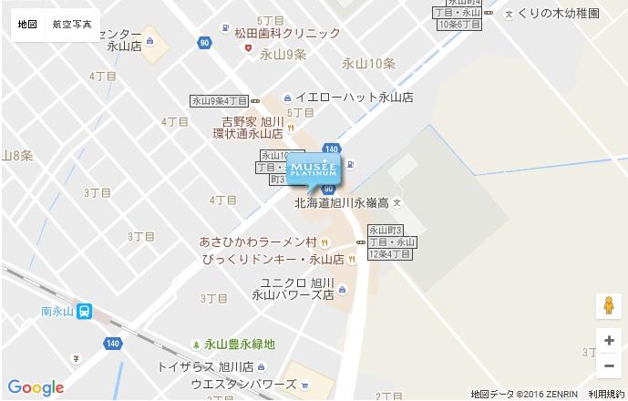 ミュゼ 旭川パワーズ店の地図