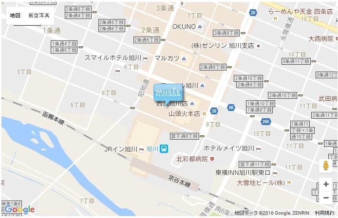 ミュゼ 旭川店の地図