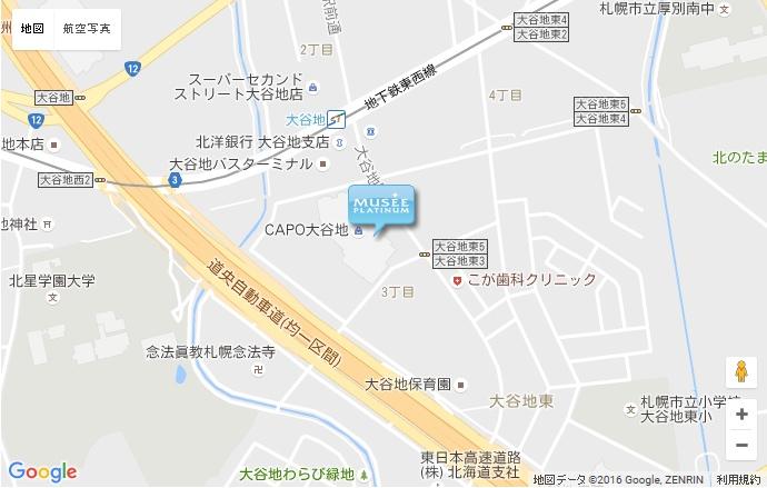 ミュゼ CAPO大谷地店の地図