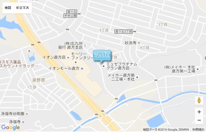 ミュゼ グラン直方店の地図