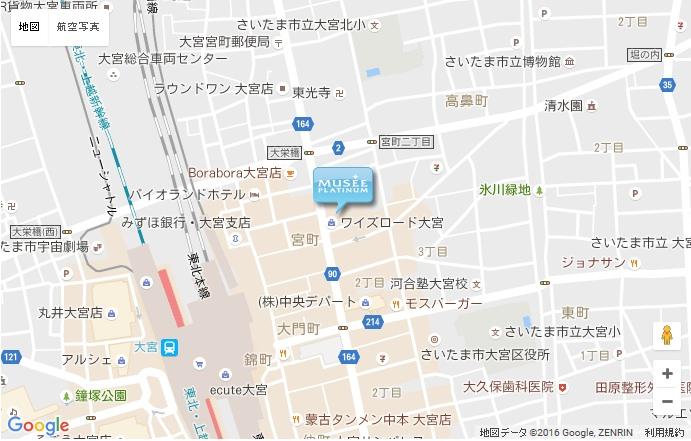 ミュゼ グラン大宮店の地図