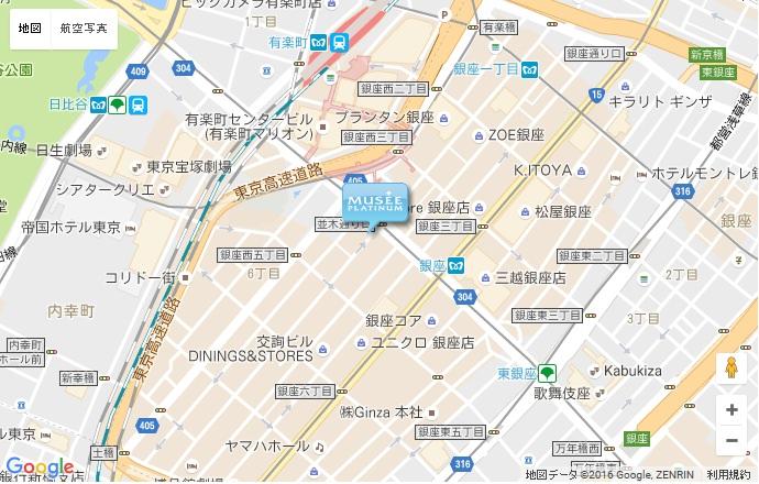 ミュゼ 銀座並木通り店の地図