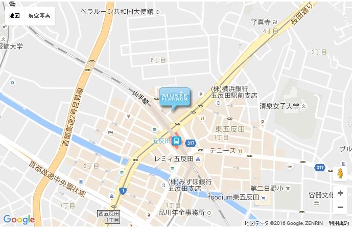 ミュゼ 五反田店の地図