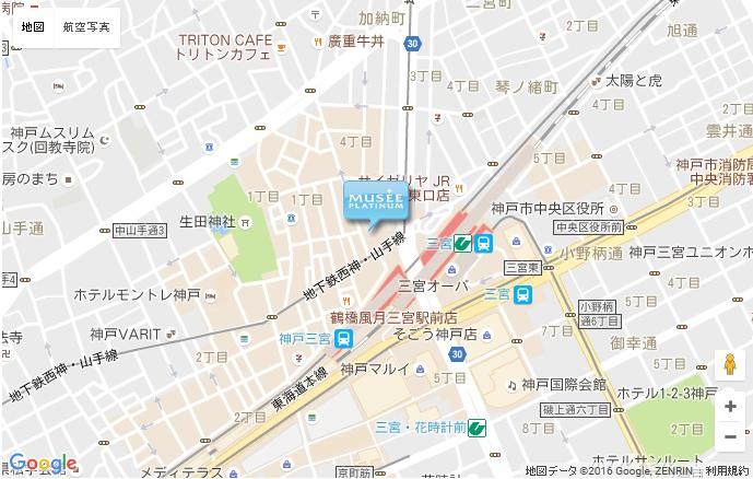 ミュゼ グラン三宮店の地図