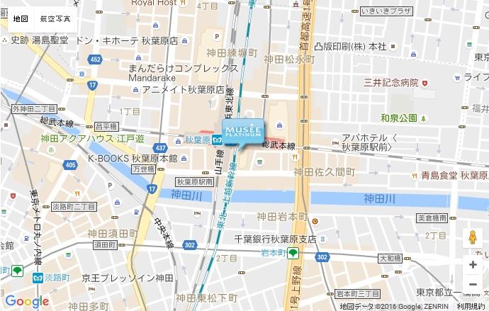ミュゼ グランアキバ・トリム店の地図
