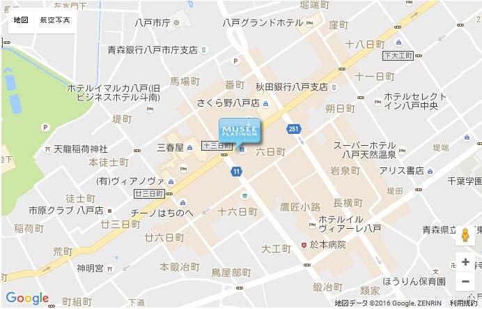 ミュゼ 八戸店の地図