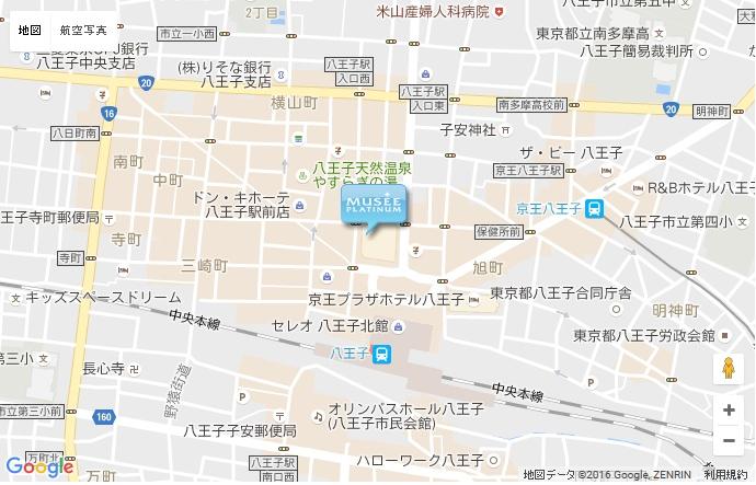 ミュゼ 八王子東急スクエア店の地図