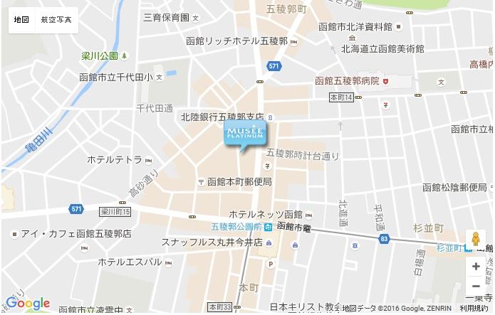 ミュゼ 函館店の地図