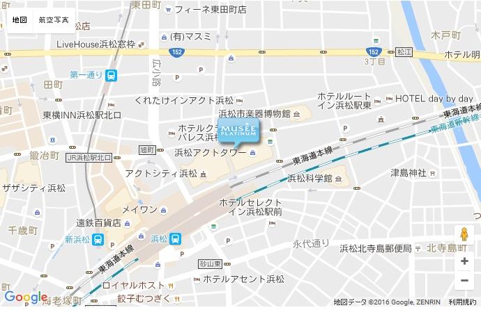 ミュゼ 浜松アクトタワー店の地図