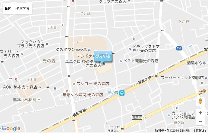 ミュゼ 光の森ゆめタウン店の地図