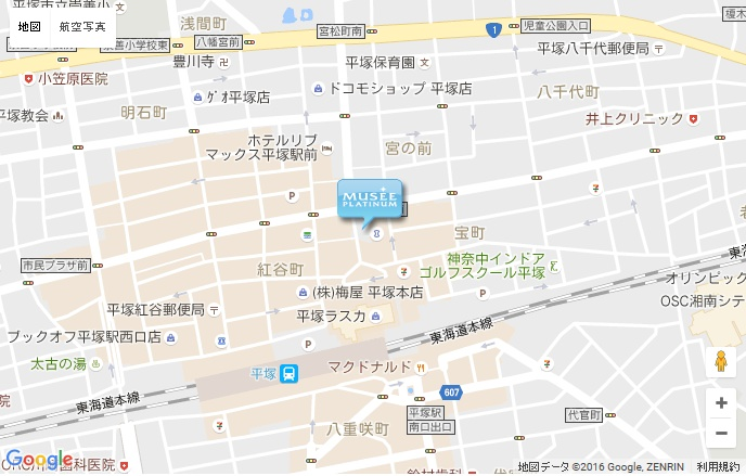 ミュゼ 平塚店の地図