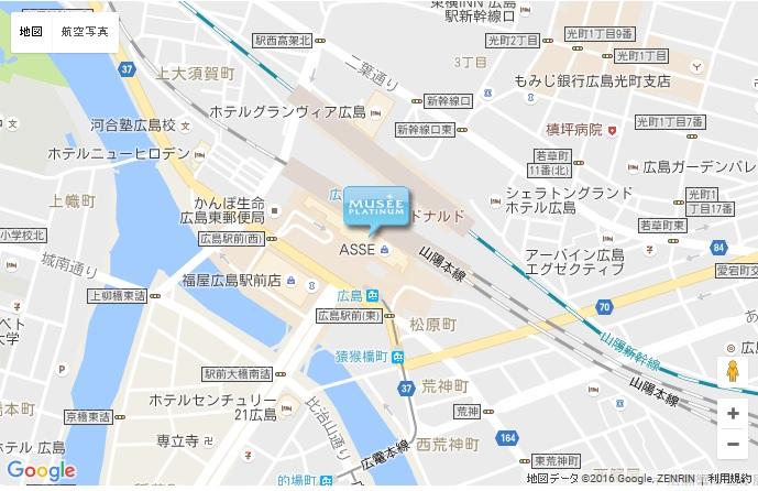 ミュゼ グラン広島アッセ店の地図