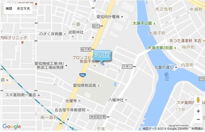 ミュゼ イオンタウン熱田千年店の地図