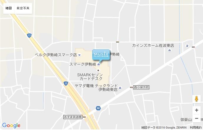 ミュゼ 伊勢崎スマーク店の地図