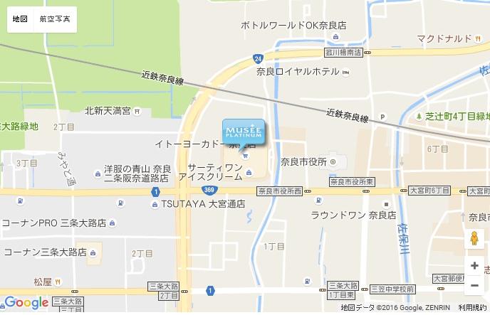 ミュゼ イトーヨーカドー奈良店の地図