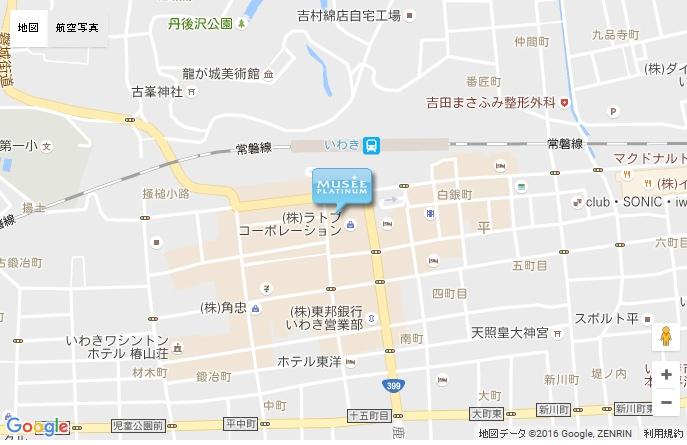 ミュゼ いわきラトブ店の地図