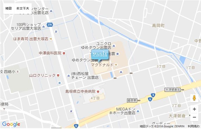 ミュゼ 出雲ゆめタウン店の地図