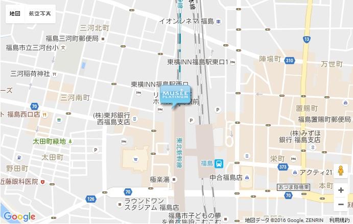 ミュゼ JR福島駅店の地図