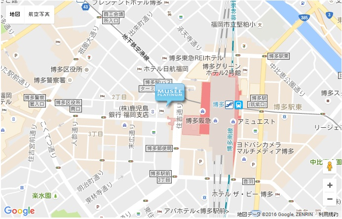 ミュゼ JR博多駅前店の地図