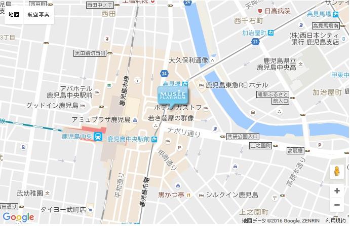 ミュゼ グラン鹿児島店の地図