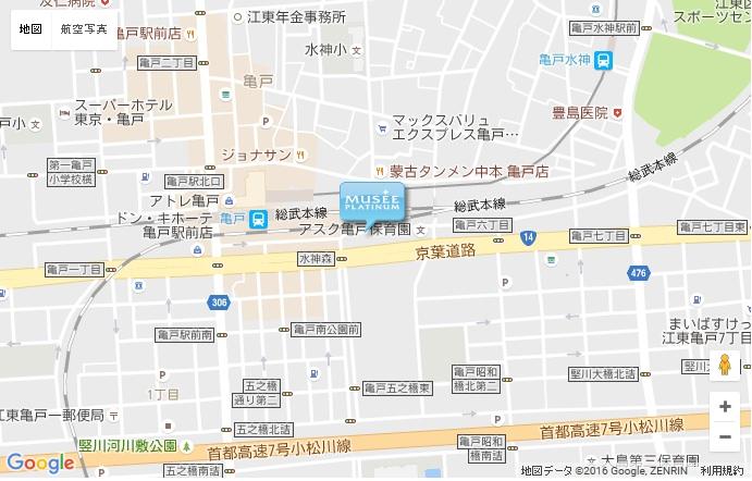 ミュゼ 亀戸店の地図