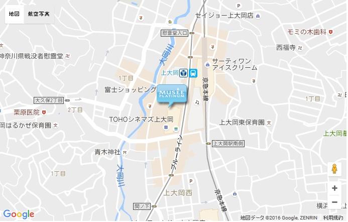 ミュゼ 上大岡ミオカ店の地図