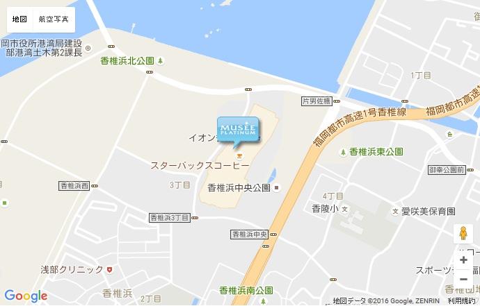 ミュゼ 香椎浜店の地図