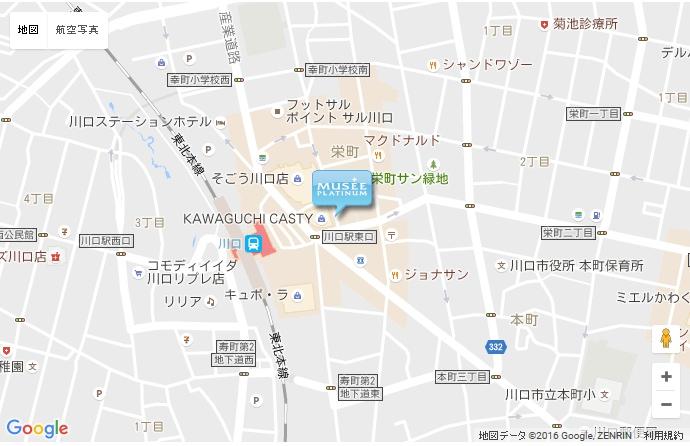 ミュゼ 川口店の地図