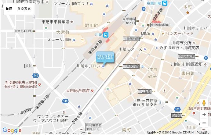 ミュゼ グラン川崎ルフロン店の地図